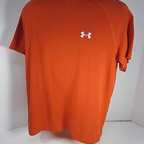 Under Armour Medium Orange Heat Gear T Shirt Item 17c Photo