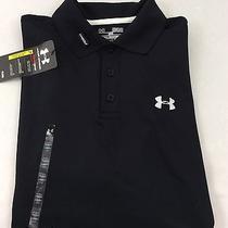Under Armour Men's Athletic Golf Polo Loose Black Size Xl Photo