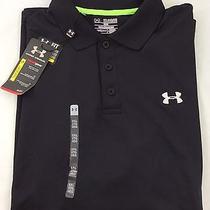 Under Armour Men's Athletic Golf Polo Loose Grey Black Size 3xl Photo