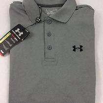 Under Armour Men's Athletic Golf Polo Loose Heat Gear Grey Size 2xl Photo