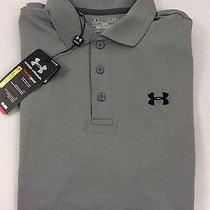 Under Armour Men's Athletic Golf Polo Loose Heat Gear Grey Size S Photo