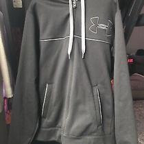 Under Armour Men's Hooded Full Zip Jacket / Coat Size Large L Black / Grey Nice Photo