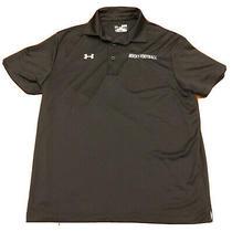 Under Armour Mens Polo Shirt Medium Black Heat Gear Loose Fit Football Coach Photo