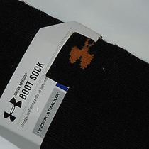 Under Armour Mens  Cold Gear Boot  Socks Size Large Black New in Pkg Photo