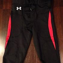 Under Armour Mens Football Pants Black/red Xl Game/practice Photo