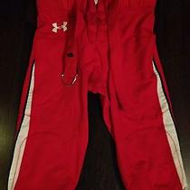 Under Armour Mens Football Pants Red Lg Game/practice Photo