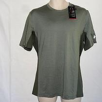 Under Armour Mens Green Station Crew Short Sleeve Shirt Size Large   Nwt Photo