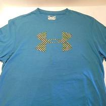 Under Armour Mens Heat Gear Shirt Blue Green Size Xl X Large Nwot Photo