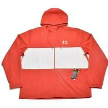 Under Armour Mens Jacket Coral Pink Size Large L Colorblock Windbreaker 60 072 Photo