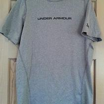Under Armour Mens M - Fitted Heat Gear  Gray Shirt- Photo