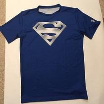 Under Armour Mens Shirt 2xl Conpression Heat Gear Superman Photo