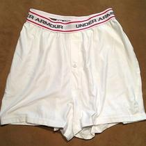 Under Armour Microfiber White Boxers Small New Photo