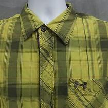Under Armour New Prototype Mens Snap Button Down Short Sleeve Shirt Size Large L Photo