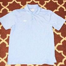 Under Armour Official Polo Blue Shirt Sz Medium Football Golf Heat Gear Photo