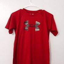 Under Armour Red Heat Gear Ymd Short Sleeve Shirt Euc Photo