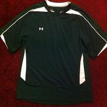 Under Armour Shirt Sz Yxl Youth Xl Polyester Green W/ Mesh Inserts Soccer Jersey Photo