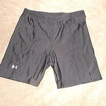Under Armour Shorts Size Medium Fitted Ladies Compression Black Fitness Photo
