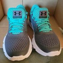 Under Armour Speedswift 2 Microg Women's 6.5 Athletic Shoes Gray Teal Logo Photo