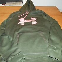 Under Armour Storm Cold Gear Green and Pink Hoodie Size S Photo