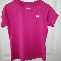 Under Armour Sz M Womens Heat Gear Hot Pink Top Photo