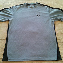 Under Armour T Shirt Sz Medium Heat Gear Gray Black Photo