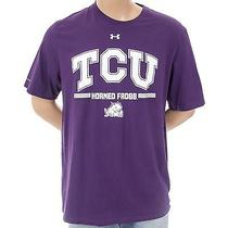 Under Armour Tcu Horned Frogs Heat Gear Sz 2xl Mens Charged Cotton Athletic Top Photo
