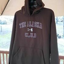 Under Armour the Alaska Club Men's L Brown Nice Warm Sweatshirt Hoodie Jacket Photo