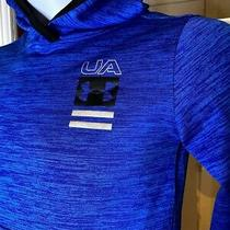 Under Armour Toddler Hoodie Royal Blue W Silver Logo on Hood Size 4 Photo