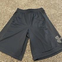 Under Armour Ua Basketball 11 Shorts Mens Black Nice Shape Size L Large Photo