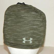 Under Armour Ua Storm Elements Beanie Stocking Hat Cap Artillery/moss Green Photo