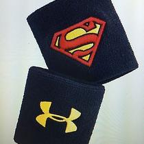 Under Armour Ua Superman Wristbands 2 Pack Navy Marvel - New Photo