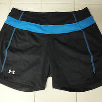 Under Armour Womans Bike  Gym Shorts Sm (Blue - Black) - Nwot Photo