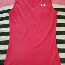 Under Armour Women's M Hot Pink Tank Top Fitted/compression Sleeveless Shirt  Photo