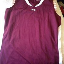 Under Armour Womens Heat Gear Burgundy Shirt Size M Photo