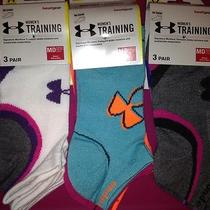 Under Armour Womens Set of 9 Pairs Bright Colored Low Rise Socks Photo