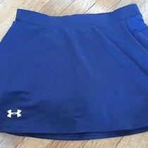 Under Armour Womens Size Small Semi Fitted Heat Gear Navy Heat Gear Skirt Photo