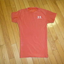 Under Armour Womens Top  Size Small Orange  Photo