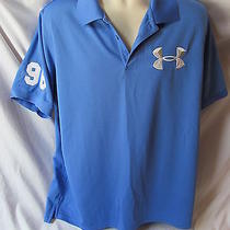 Under Armour Xlarge Blue Regular Heat Gear Polo Item 19a Photo