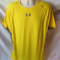 Under Armour Xlarge Yellow Heat Gear T Shirt Item 22a Photo