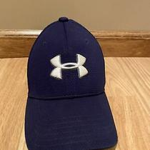 Under Armour Youth Boys Blue Baseball Hat Size Xs/sm Fitted Golf Golfer Photo