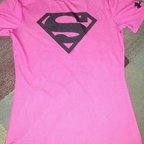 Under Armour Youth Large Fitted Dry Fit Superman Photo