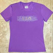 Under Armour Youth Xl Yxl Shirt Heatgear Fitted Athletic Wear Purple Nwot Photo