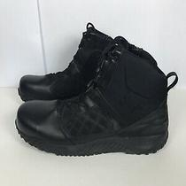 Under Armour Zip 2.0 Protect Tactical Wp Black Leather Military Cops Boots Sz 10 Photo