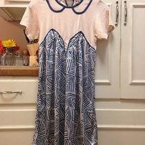 Uni Qlo Med Dress Blush Pink at Top & Blue & White Silky Bottom Modern Design Photo
