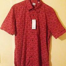 Uniqlo Micro Print Woven Shirt Nwt Size L Polo Apc Supreme Y-3 Topman Wood Wood Photo
