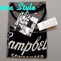 Uniqlo Women Sprz Ny Andy Warhol Campbell Soup Print Short Sleeve T-Shirt Gray Photo