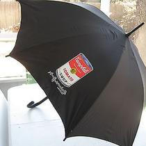 Unique and Rare Andy Warhol Umbrella W/campbell Soup Can & His Quotes on Inside Photo
