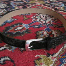 Unique Fossil Black Patchwork Calf Hair Belt Small S Euc Photo