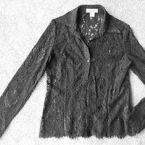 Unique/rare Brooks Brothers Black Lace Shirt/ Blouse - Size 4 Photo