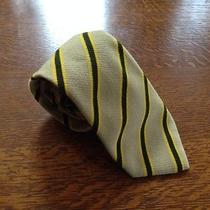Unique Rare Burberry London Puffy Silk Striped Tie Photo